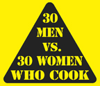 30 men who cook vs. 20 women who cook